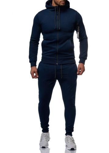 Tracksuit Fitness Basic Squad Suit Jacket Trousers Simple Men/'s