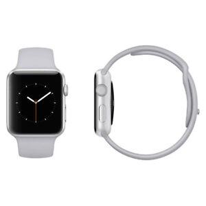 sale retailer 0f929 1739d Details about Apple Watch Series 3 38mm Silver Aluminium Case Fog Sport  Band (GPS) Pristine A