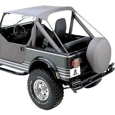 Bikini Top Charcoal 1976-1991 Jeep CJ7 CJ8 And YJ Wrangler 52508-09