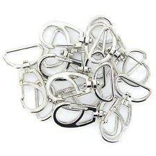 10X 45*30mm drehbarer Karabinerhaken mit Schlüsselring Schlüsselanhänger Silber