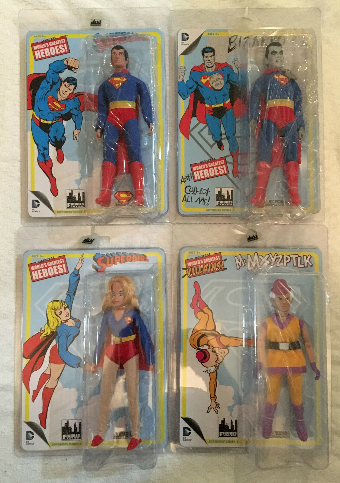 Series 1 World's Greatest Heroes Figures Toy Company Set of 4 Superman Supergirl