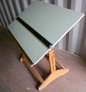 Antique architect drafting drawing table solid wood w for Architecture t square