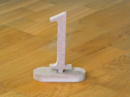 Wedding Unpainted MDF Table Numbers Times New Roman Freestanding Wooden MDF
