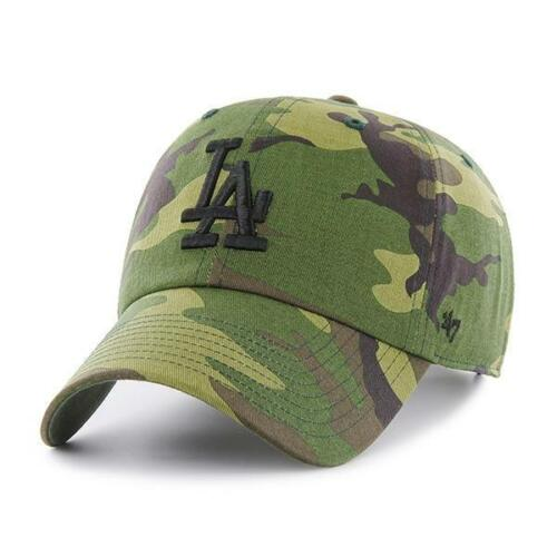 Los Angeles Dodgers Cap MLB Baseball 47 Brand Cap Kappe Camo Slouch Flach LA