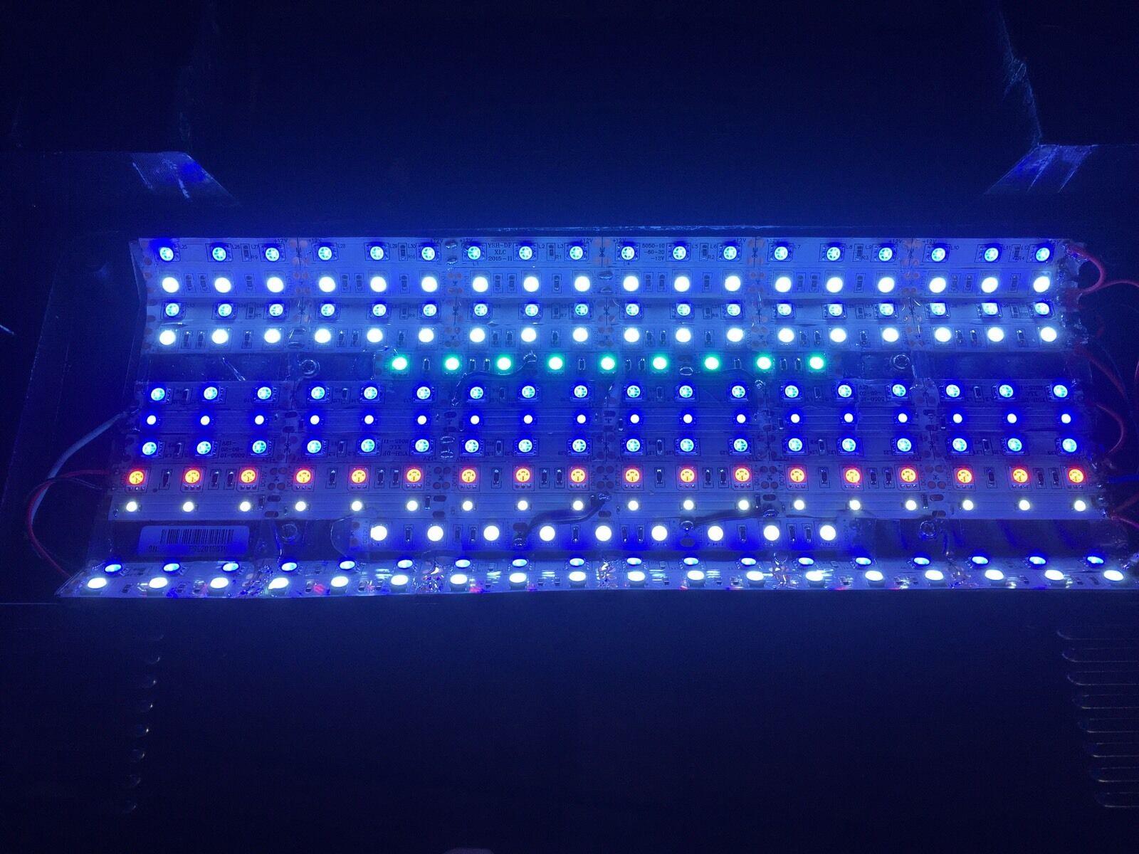 Full spectrum 65W LED retrofit upgrade - Bio-Cube 14 gallon reef aquarium light