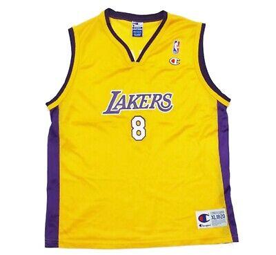 Vintage Kobe Bryant Jersey XL Youth 18-20 Champion NBA Los Angeles Lakers | eBay