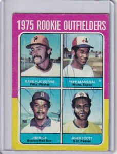 1975 Topps signed Jim Rice autograph Red Sox RC with COA great signature