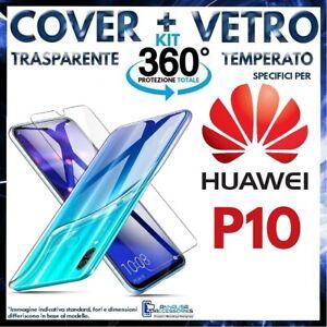 COVER VETRO TEMPERATO Per HUAWEI P9 Pellicola Custodia TPU Trasparente EVA-L09