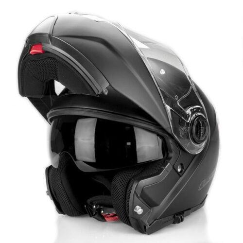 Ls2 Blitz Aufklappbar Vorne Motorrad Helm Matt Schwarz Motorradunfall Deckel