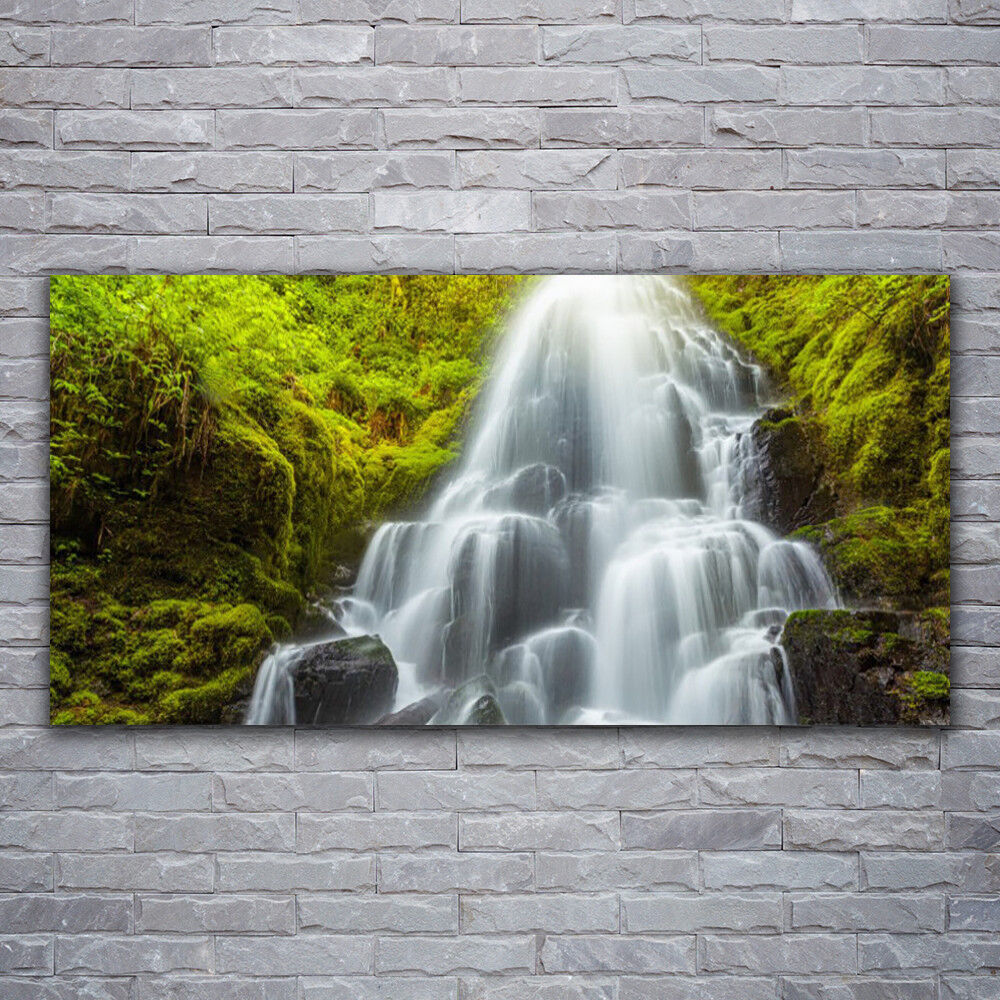 Canvas print Wall art on 120x60 Image Picture Waterfall Nature