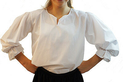 Victorian-Baron-Tudor-Panto-Shows-Fancy Dress BASIC WHITE SHIRT All Ages//Sizes