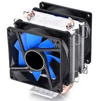 New Dual Fan CPU Quiet Cooler Heatsink for Intel LGA775/1156 AMD FO