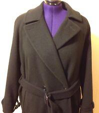 Calvin Klein Winter Coat 6 Navy Full Length Double Breasted 100% Merino Wool
