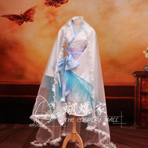 Inu x Boku SS Xuenv kimono Lolita White Fairy Dress Cos Cosplay Costume