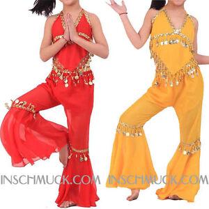 K12-CHILDREN-039-S-Belly-Dancing-Costume-Top-Top-amp-Pants-Belly-Dancing