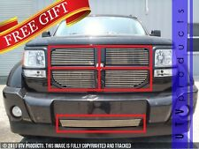 GTG 2007 - 2011 Dodge Nitro 5PC Polished Overlay Combo Billet Grille Grill Kit