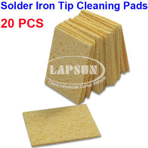 20pcs soldering iron gun tip cleaner replacement sponges water cleaning pad mat ebay. Black Bedroom Furniture Sets. Home Design Ideas