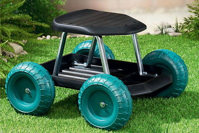 Gartenwagen ROLL´N´KNEEL 4 in 1 grün Kniebank Sitzbank mit Rollen