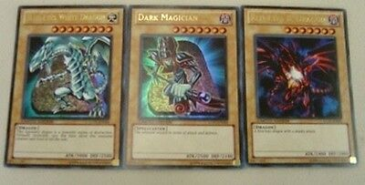Yugioh lot BLUE-EYES WHITE DRAGON DARK MAGICIAN LC01-EN004 LC01-EN005 LC01-EN006