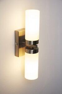 Applique-Lampe-murale-Up-amp-Down-Eclairage-salle-de-bain-Metal-Verre-Blanc-45512