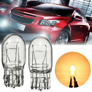2X-T20-12V-21W-5W-Side-Wedge-Indicator-bulbs-Tail-Brake-Signal-Halogen-Light-DRL