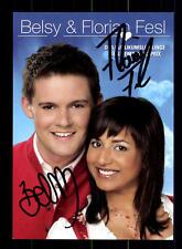 Belsy und Florian Fesl Autogrammkarte Original Signiert ## BC 75651