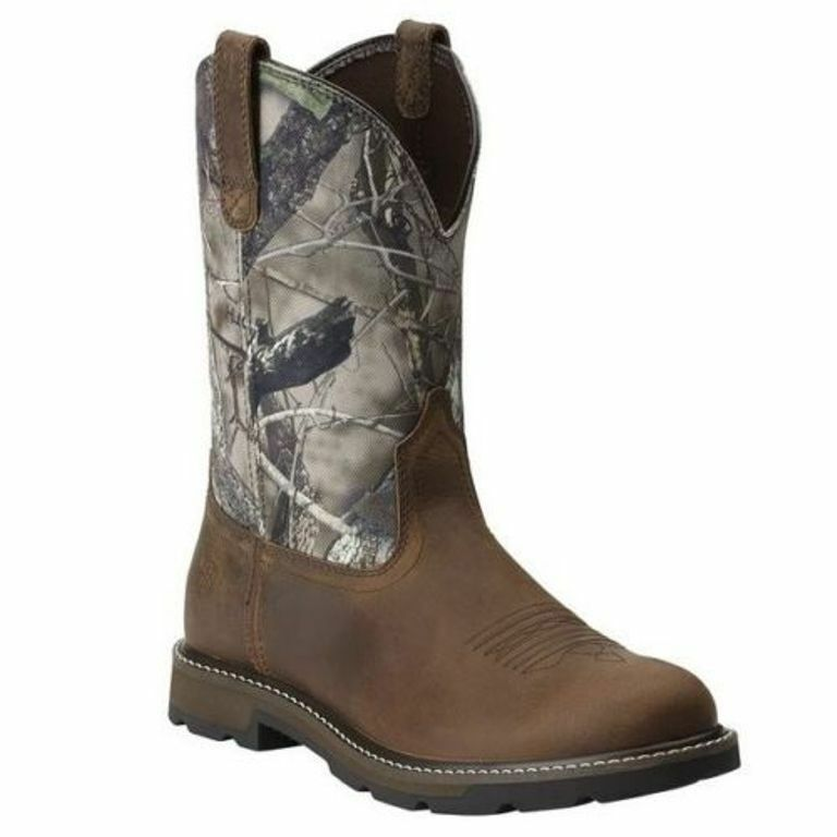 Ariat Men's Groundbreaker Pull-On Work Boots Camo Brown  MANY SIZES