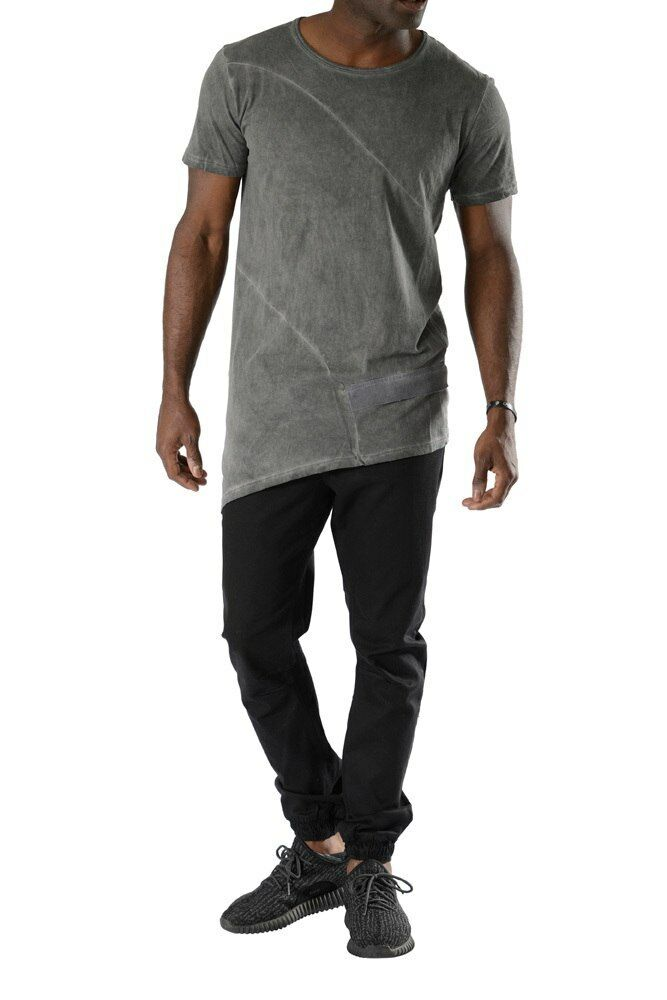 NEW MEN SOVAGE GARMENT DYE TEE M620GC CHARCOAL  SIZE L