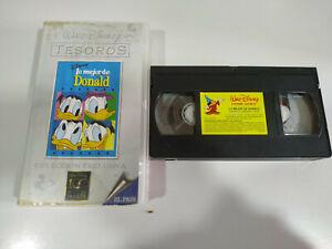 Lo-Mejor-de-Donald-Walt-Disney-VHS-Cinta-Espanol-2T