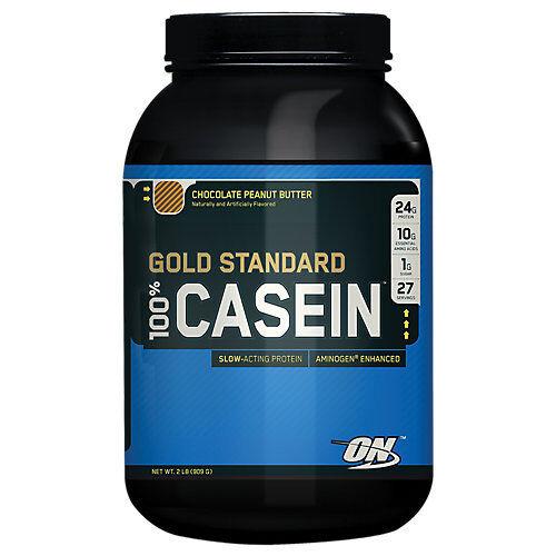 Optimum Nutrition Gold Standard 100% Casein - 2 lb Powder Chocolate Peanut...