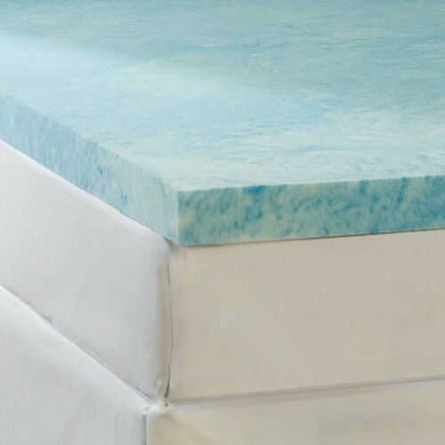 Soft Sleeper Gel Infused Queen Size 2 inch Thick Memory Foam Mattress Pad Topper
