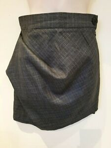 e08dd5944d0 Image is loading Vivienne-Westwood-Anglomania-checked-asymmetric -Grey-mini-Skirt-