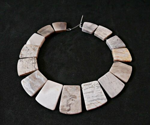 Nellys jaspe Collier//Strang perlas piedras preciosas Silver Leaf jaspe