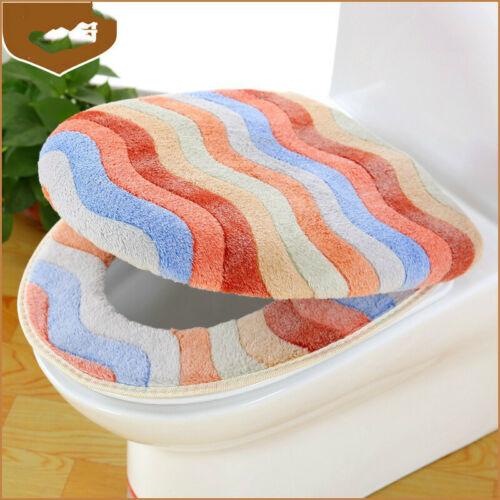 Waschbar Badezimmer Toilette Sitzbezug Koralle Vlies Toilettendeckel Matte Pad