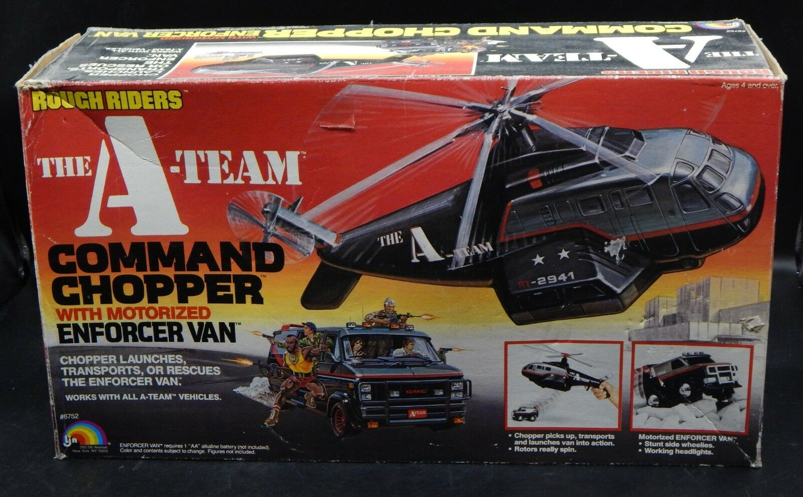 1983 LJN the A-TEAM Rough Riders COMMAND CHOPPER w/ Enforcer Van playset RARE