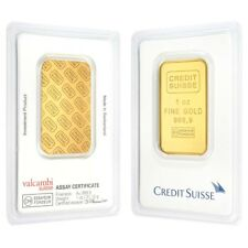 Sale Price - 1 oz Credit Suisse Gold Bar .9999 Fine (In Assay)