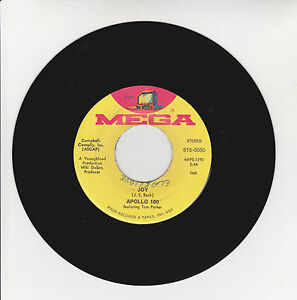 APOLLO-100-Vinyl-45T-7-034-JOY-EXERCISE-IN-A-MINOR-MEGA-615-0050-F-Reduced-RARE