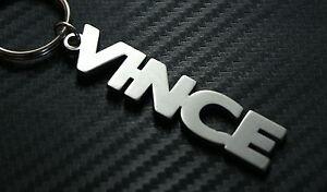 VINCE-nombre-personalizado-llavero-a-medida-Acero-Inoxidable-Regalo