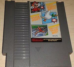Super Mario Bros. Duck Hunt World Class Track Meet Nintendo NES 3 game cartridge