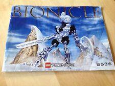 Used,  Lego Bionicle Kopaka . 8536. INSTRUCTIONS ONLY.