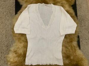 Frixa-cotton-white-Camisole-Top-sleepwear-nightwear-size-L