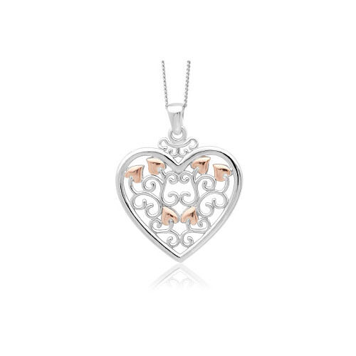 Clogau Silver & Rose Gold Kensington Pendant *SAVE OVER 20% OFF RRP £109*