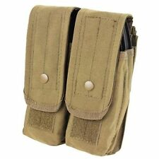 Condor Ma6 MOLLE Double Magazine Pouch Fit 4x 7.62 or 6x 5.56mm Rifle Mags Tan