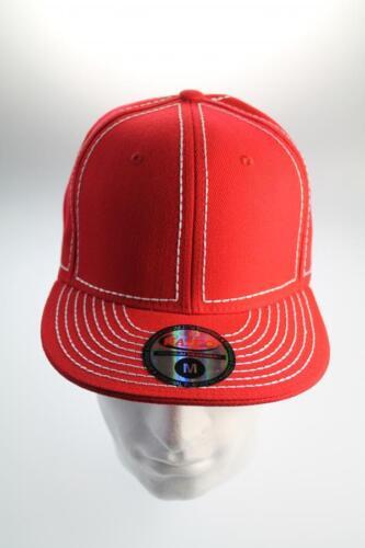 Para Hombre Rojo//blanco Béisbol cap//hat Tamaño Pequeño Y Mediano