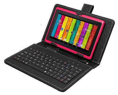 """7"""" Quad Core Android 4.4 Kitkat Tablet Bluetooth 2 Camera Play Store W/ Keyboard"""