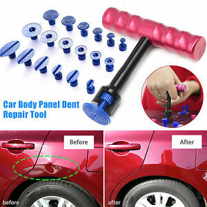 T-Bar Car Body Panel Paintless Dent Removal Repair Lifter Tool+18Pcs Puller Tabs