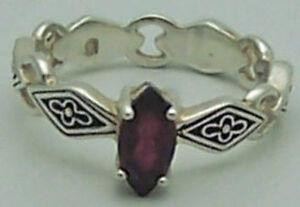 Fab Estate Rj Graziano Avon Garnet Sterling Silver Flower Design Ring Size 6 Ebay