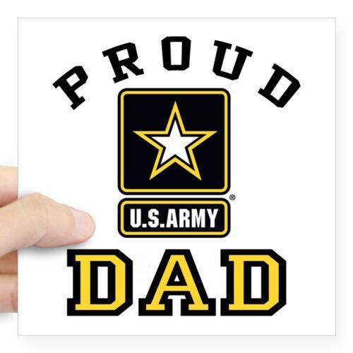 1394913702 CafePress Proud U.S Army Dad Square Sticker 3 X 3 Square Sticker