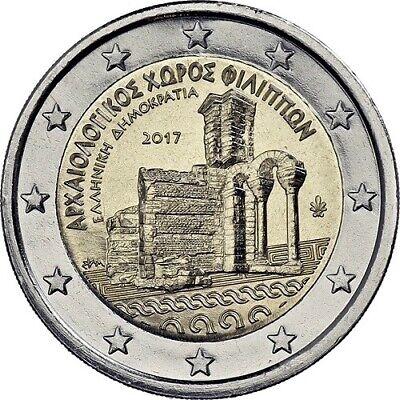 Unc Philippi 2 Euro Greece 2017