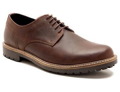 Red Tape Checkley Mens Brown Leather Gibson Brogues RRP £50 Free UK P/&P!